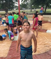 Ty at the splash pad!