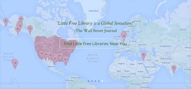 Little Free Library World Map.Ifla Little Library Smore Newsletters For Education