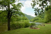 Campground and Cabin in Nolichucky River