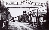 The entrance of Auschwitz.
