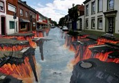 Julian Beever Is On His Way To Downtown Easley