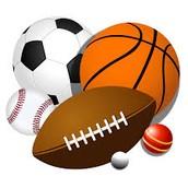 Football, Volleyball, Basketball