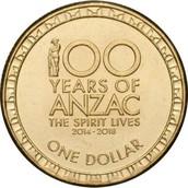 100 year ANZAC coin