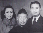 Niang (left), Ye Ye (middle), Father (right)