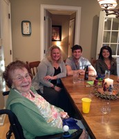 Grandma with Kate, Brendan and Jackie!