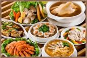 An array of Taiwanese food