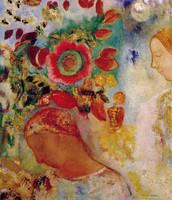 Due ragazze tra i fiori, Redon, 1910