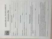 Dodgeball Tournament Form