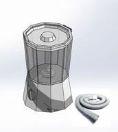 Mini lavadora y secadora centrifuga (500x300mm)