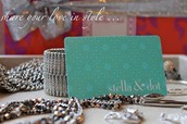 Stella and Dot does gift cards