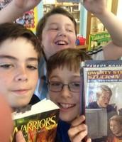 National Book Celebration Selfie 4th grade