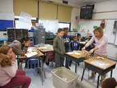 Christina Race on testing day--can the bridge hold 200 pennies, 300 pennies