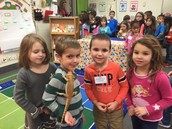 A special visitor in kindergarten.