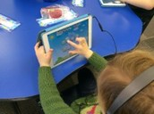 Practicing sight words with the iPads...