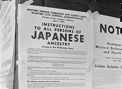 Why were Japanese-Americans put into internment during WWII?