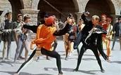 Mercutio and Tybalt fighting