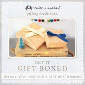 No time to wrap?  Add a gift box at Checkout!