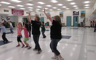 Zumba with Ms. Kelley and Ms. Ridley!