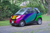 this color changing 2063 smart car is the fastest car in the world