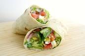 Vegetarian Option:  Veggie Salad Wrap
