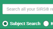Searching SIRS Knowledge Source