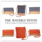 Waverly Petite Purse in Blue- Benton Stripe