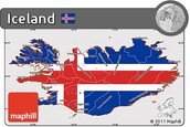 Icelandic map flag