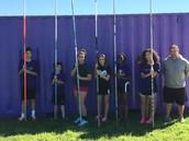8th grade Pole Vaulting team