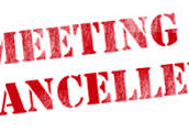 Buildings and Grounds Meeting Cancelled