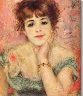 Ritratto di Jeanne Samary, Renoir, 1877