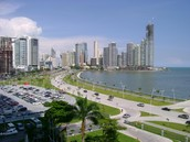 Some of the major cities in Panama