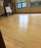 Sanding Classroom Flooring