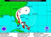 Hurricane Matthew Cone of Uncertinty