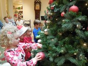 PreK Trimming the Christmas Tree