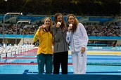 Women 200m Freestyle Medalists