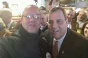 Steered Straight founder/CEO Michael DeLeon with Governor Chris Christie