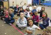 Kindergarten percussionists