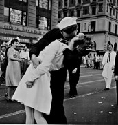 """New York City Celebrating the Surrender of Japan"""