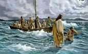 Jesús andando sobre las aguas