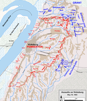 Map of the Battle of Vicksburg