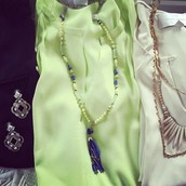 Azure tassel necklace