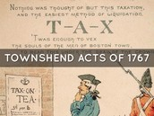 The Townshends Act 1767