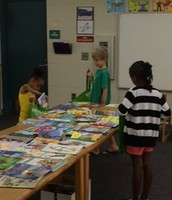 Students Enjoying a Free Book Fair