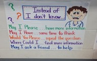 """Instead of """"I don't know"""""""