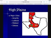 Major cities in the high plains