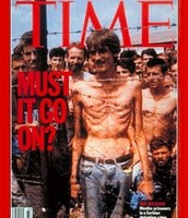 Concentration camp on the cover of a Time Magazine