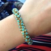 Vintage Twist Bracelet - Turquoise