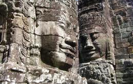 Famous carved rocks in Cambodia