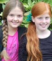 Eva-Lianne (12) and Sefanya (10)