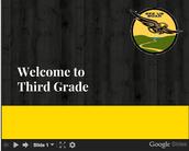 SEES 3rd Grade Back to School NIght Presentation